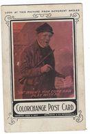 CLA114 - COLORCHANGE POST CARD DEEKS & CO PATERSON NEW JERSEY ABOUT 1920 - Cartes Stéréoscopiques