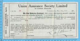 Richmond Québec - 1912, Recu Du Representant D'Assurance ( Union Assurance Society Limited - Canada