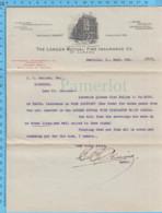 Richmond (Danville) Quebec -1913 Lettre Et Autographe Du Représentant D'assurance ( London Mutual Fire Insurance Co. ) - Canada