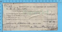 Richmond (Cleaveland) Quebec -1915 - Reçu Taxe Municipale Et Taxe De Chemin De Cleaveland, 23b Rang 9 - Canada