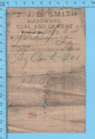 Richmond  Quebec -1915 - Facture Du Magasin J.D. Smith + Autographe - Canada