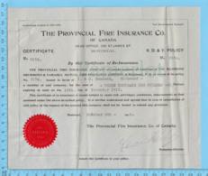 Richmond  Quebec -1913 - Certificat D'assurance Incendie ( Richmond, Drummond & Yamaska Of Richmond ) - Canada