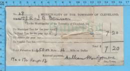 Richmond (Cleaveland) Quebec -1915 - Reçu Taxe Municipale Et Taxe De Chemin De Cleaveland, 17a+17c Rang 12 - Canada