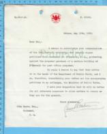 Original - Ministere Des Poste 1913 (Filigrane) Au Maire De Richmond Quebec , Autographe Louis Philippe Pelletier - Autographes