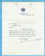 Original ( Filigrane) - Canada Departement De L'agriculture 1913 Au Maire De Richmond Quebec , Martin Burrel ? - Autographes