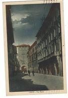 CLA116 - UDINE VIA MANIN ANIMATA DISEGNATA 1931 - Udine