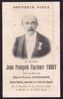HASSELT Jean-François FARCY Notaris Veuf HOEBAERS 1832-1914  DP Souvenir Mortuaire Foto - Obituary Notices