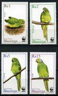 Mauritius 2003 MiNr. 963 - 966 Birds Echo Parakeet WWF 4v MNH**  2,00 € - Mauritius (1968-...)