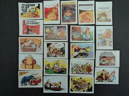 20  CHROMOS, ASTERIX , OBELIX, ET AUTRES PERSONNAGES DU VILLAGE GAULOIS - Cigarette Cards