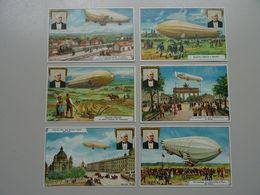 Lot De 6 Chromos Crême Liebig: Zeppelin - Other