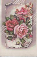 Fleurs Avec Découpis Et Paillettes (Foug 29 Aout 1958) - Flores