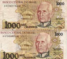 BRAZIL 1000 CRUZEIROS  1990   CIRC. - Brasilien