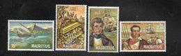 Mauritius 1972 MiNr. 387 - 390  Pirates And Privateers Ships Treasure 4v MNH** 19,00 € - Mauritius (1968-...)
