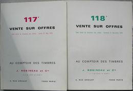 VENTES ROBINEAU 1978  2 Catalogues De Vente. - Catálogos De Casas De Ventas