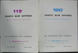 VENTES ROBINEAU 1979  2 Catalogues De Vente. - Catálogos De Casas De Ventas
