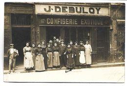 PARIS - Devanture De MAGASIN - Confiserie Exotique J. DEBULOY - 17 Rue Brise Miche - CARTE PHOTO - Arrondissement: 04