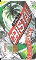 CARTE PUCE-CUBA-ETECSA--10USD-BIERE CRISTALUTILISE-TBE - Cuba