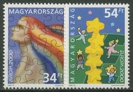Ungarn 2000 Europa CEPT Sterne Puzzle 4596/97 Postfrisch - Nuevos