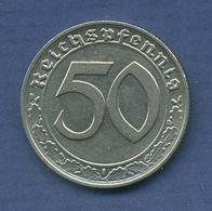 Deutsches Reich 50 Pfennig 1939 E, Kursmünze Nickel J 365 Ss + (m2645) - [ 4] 1933-1945 : Tercer Reich
