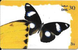 -CARTE-PREPAYEE-30DHS-ETISALAT-PAPILLON-Element Puzzle 3/9-Plastic Epais-R° Glacé--TBE - Papillons