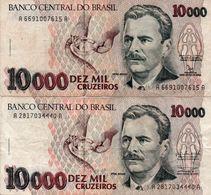 BRAZIL 10000 CRUZEIROS  1992   P-233    CIRC - Brasilien