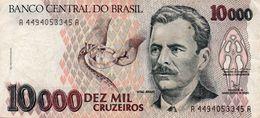 BRAZIL 10000 CRUZEIROS  1992   P-233b    CIRC  VF+XF - Brasilien