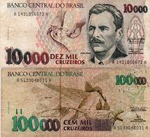 BRAZIL 10000/100000 CRUZEIROS  1992  CIRC - Brasilien