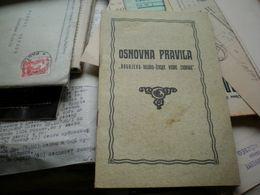 Osnovna Pravila Bogojevo Vajska Zivske Vodne Zadruge 1937 18 Pages - Books, Magazines, Comics