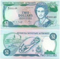 Bermuda - 2 Dollars 1997 Pick 40Ab UNC Lemberg-Zp - Bermuda