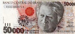 BRAZIL 50 CRUZEIROS  1993  P-237   UNC - Brasilien