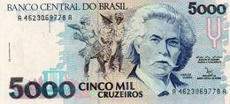 BRAZIL 5000 CRUZEIROS  1992  P-232b   UNC - Brasilien