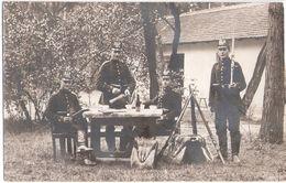 LÜBBEN Lausitz Brandenburger Jäger Kleines Biwak Mit Bewachung Original Fotokarte 6.6.1912 Gelaufen - Luebben (Spreewald)
