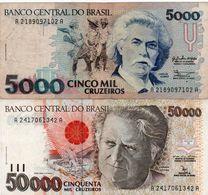 BRAZIL 5000/50000 CRUZEIROS  1992  CIRC - Brasilien