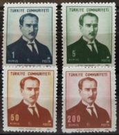 TURQUIE / YT 1859 - 1862 / PRESIDENT ATATURK / NEUFS ** / MNH / COTE : 11.00 € - 1921-... Republic