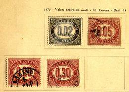 ITALIA -  1874 REGNO - FRANCOBOLLI DI SERVIZIO Cifre In Ovale .usato.3 Valori Vedi Foto. - 1878-00 Umberto I