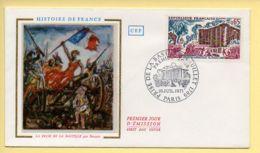 FDC N° 1680 - Prise De La Bastille (14 Juillet 1789) – 75 Paris 10/07/1971 (soie) - FDC