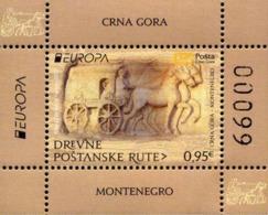 2020 EUROPA, Ancient Postal Routes, Block, Montenegro, MNH - Montenegro