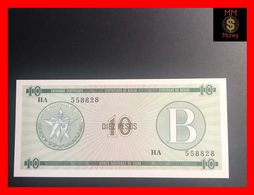 CUBA 10 Pesos 1985  P. FX 8  Serie B   UNC - Kuba