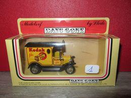 VEHICULE BOITE D ORIGINE - MODELS OF DAYS GONE BY LLEDO - TRES JOLI  TACOT AVEC PUB KODAK - MADE IN ENGLAND N°1 - Toy Memorabilia