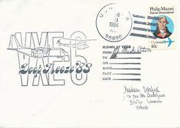 Lettre Deep Freeze 1983 VXE-6 - Timbre USA PA N°92 - Cachet Du 03/02/1984 - Dépendance De Ross (Nouvelle Zélande)
