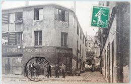 75 CPA VIEUX PARIS 1910 UN COIN PITTORESQUE DE L'ÎLE DES SINGES DEVANTURE RESTAURANT - Pubs, Hotels, Restaurants