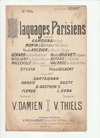 PARTITION PLAQUAGES PARISIENS Créée Par KAMOUNA à La SCALA - Noten & Partituren