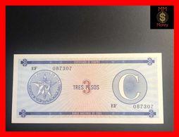 CUBA 3 Pesos 1991  P. FX 20  Serie C  UNC - Kuba