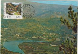 Carte Maximum PORTUGAL N°Yvert 1341 (EUROPA - VALLEE DU NORD) Obl Sp Lamego 1er Jour - Cartoline Maximum