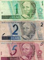 BRAZIL 1/2/5  REAIS  CIRC. - Brasilien
