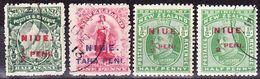 Niue 1903-1911 Lot Of Definitives Mi 5-6, 11 Used O, Mi 11 MH * - Niue