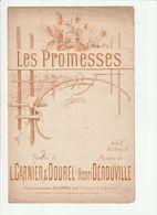 PARTITION LES PROMESSES Delormel Et Cie Editeurs - Noten & Partituren