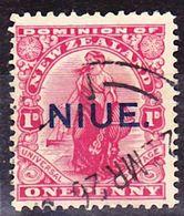 Niue 1917 New Zealand Definitive With Overprint Mi 17 Used O - Niue