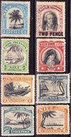 Niue 1920-1936 Lot Of Definitives Mi 28, 37, 45-50 MH * - Niue