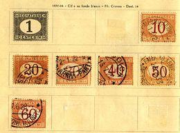 ITALIA -  1890 REGNO - SEGNATASSE Cifra In Ovale.usato.6 VALORI Vedi Foto. - 1878-00 Umberto I